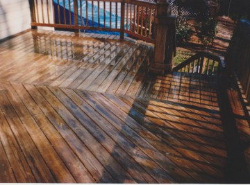 deck cleaning and staining