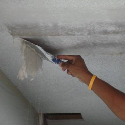 Stripping a Popcorn Ceiling