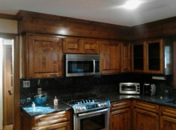 Kitchen brown cabinets